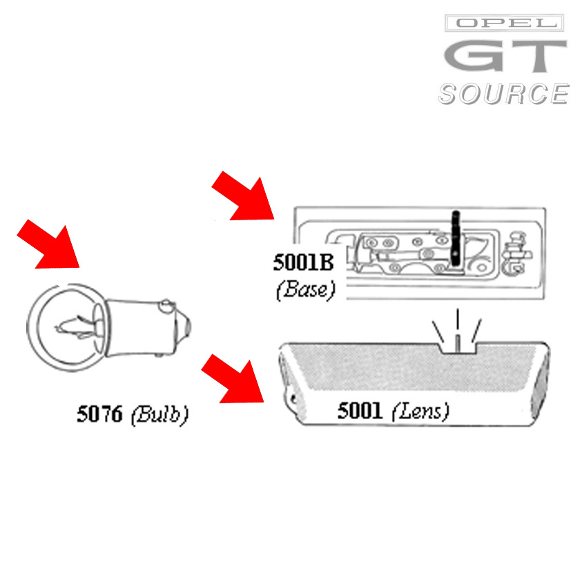 5001b_opel_gt_dome_light_assembly_diagram