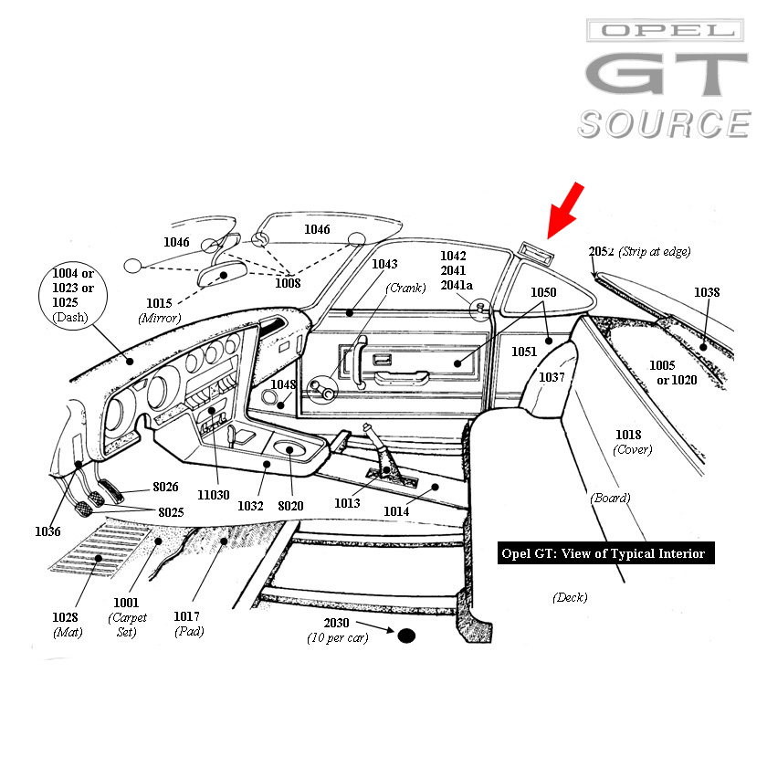 5001bl_opel_gt_dome_light_assembly_diagram01